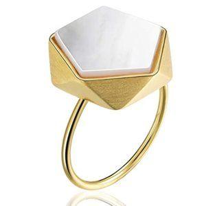 Style Geometric Angles Design Open Ring Handmade